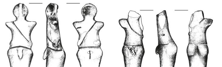 Anthropomorphic figurines from the Verteba Cave in Bilcze Złote (Kadrow/Pokutta 2016)